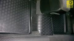 Фото 7 - Коврики в салон для Mitsubishi Lancer 9 '04-09 полиуретановые, черные (L.Locker)