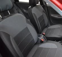 Авточехлы Premium для салона Daewoo Lanos серая строчка (MW Brothers) подголовники горбы