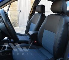Авточехлы Premium для салона Daewoo Lanos синие (MW Brothers) подголовники горбы