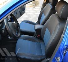 Авточехлы Premium для салона Daewoo Lanos синие (MW Brothers) подголовники