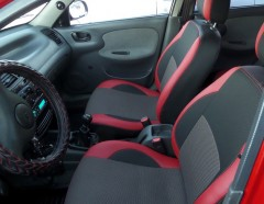 Авточехлы Premium для салона Daewoo Lanos красные (MW Brothers) задняя спинка закрывает подголовники