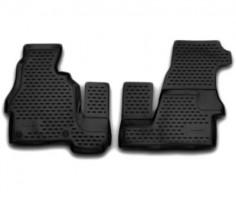Коврики в салон для Mercedes Sprinter '06- полиуретановые, черные (Novline)