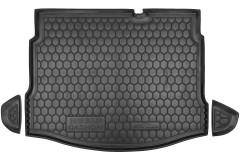 Коврик в багажник для Nissan Qashqai 2006 - 2014, резиновый, с докаткой (AVTO-Gumm)