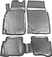 Коврики в салон для Nissan Almera Classic 06-13 полиуретановые, черные (L.Locker)