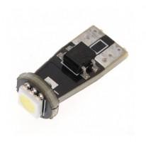 Автомобильная лампочка светодиодная с обманкой Galaxy W5W T10-5050-1SMD CANBUS