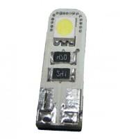 Автомобильная лампочка светодиодная с обманкой Galaxy W5W T10-5050-2SMD CANBUS