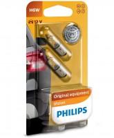 Автомобильная лампочка Philips Vision H6W 12V 6W (комплект: 2 шт.)