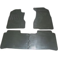 Коврики в салон для Honda CR-V '02-06 резиновые, черные (Rigum) МКПП