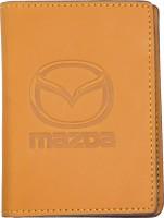 """Обложка для документов светло-коричневая """"Mazda"""""""