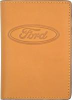 """Обложка для документов светло-коричневая """"Ford"""""""