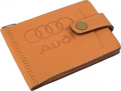 """Avtoradosti Зажим для денег """"Audi"""" светло-коричневый"""