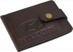 """Зажим для денег """"Hyundai"""" темно-коричневый"""