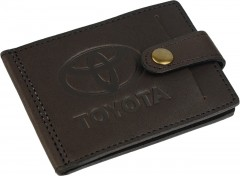 "Avtoradosti Зажим для денег ""Toyota"" темно-коричневый"