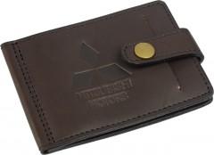 """Зажим для денег """"Mitsubishi"""" темно-коричневый"""