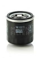 Масляный фильтр MANN-FILTER W 67