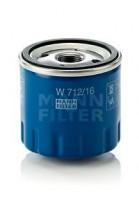 Масляный фильтр MANN-FILTER W 712/16