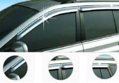 Дефлекторы окон для Kia Cerato '09-13, седан, хром (Auto Сlover)
