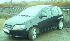 Дефлекторы окон для Chevrolet Aveo '04-06 хетчбек (Auto Сlover)