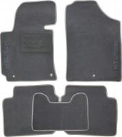 Коврики в салон для Hyundai Elantra MD '11-15 текстильные, серые (Люкс) без лентяйки