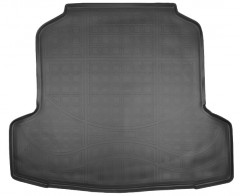 Коврик в багажник для Nissan Teana '14- седан, полиуретановый (NorPlast) черный