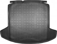 Коврик в багажник для Skoda Rapid '13-, резино/пластиковый (NorPlast) черный