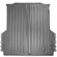 Коврик в багажник для Volkswagen Amarok '10-, резино/пластиковый (NorPlast) черный