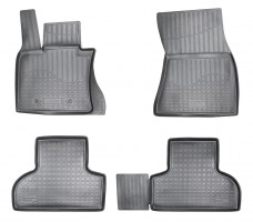 Коврики в салон для BMW X5 F15/X6 F16 '14- полиуретановые (Nor-Plast)
