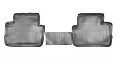 Задние коврики для Nissan Qashqai '14- полиуретановые, черные (Nor-Plast)