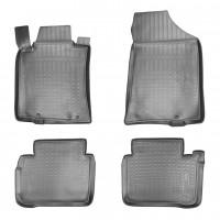 Коврики в салон для Nissan Teana '14- полиуретановые, черные (Nor-Plast)