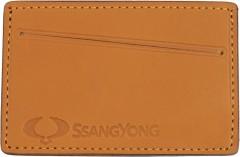 """Обложка для прав/тех.паспорта светло-коричневая """"Ssanyong"""""""