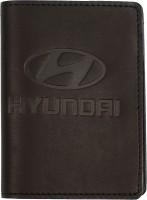 """Обложка для документов большая темно-коричневая """"Hyundai"""""""