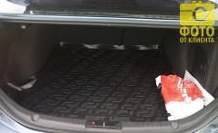 Фото 4 - Коврик в багажник для Mazda 3 '14- седан, резино/пластиковый (Lada Locker)