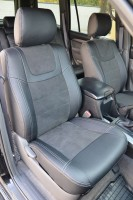 Авточехлы Leather Style для салона Toyota Land Cruiser Prado 120 '03-09, 5 мест (MW Brothers)
