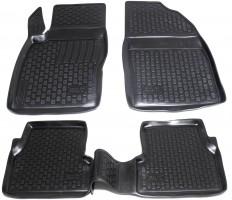 Коврики в салон для Ford Focus II '04-11 полиуретановые, черные (L.Locker)