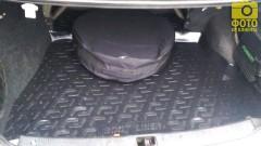 Коврик в багажник для Nissan Almera '00-06, резино/пластиковый (Lada Locker)