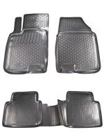 Коврики в салон для Nissan Qashqai +2 '06-14 полиуретановые, черные (L.Locker)