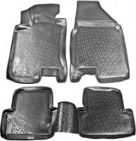 Коврики в салон для Nissan Qashqai '06-14 полиуретановые, черные (L.Locker)