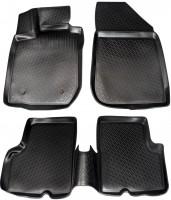 Коврики в салон для Renault Duster '10-18, 2WD, полиуретановые, черные (L.Locker)