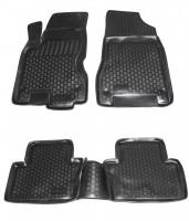 Коврики в салон для Renault Koleos '06-16 полиуретановые, черные (L.Locker)