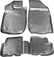 Коврики в салон для Renault Logan '04-12 полиуретановые, черные (L.Locker)
