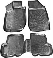 Коврики в салон для Renault Sandero '08-12 полиуретановые, черные (L.Locker)