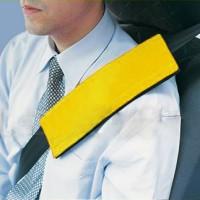 Подушка на ремень безопасности желтая