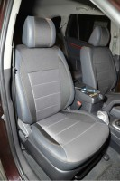 Авточехлы Premium для салона Hyundai Santa Fe '06-12 CM серая строчка (MW Brothers)