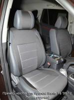 Авточехлы Premium для салона Hyundai Santa Fe '06-12 CM красная строчка (MW Brothers)