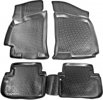 Коврики в салон для Chevrolet Lanos / Sens '98- полиуретановые, черные (L.Locker)
