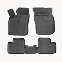 Коврики в салон для Daewoo Matiz '01- полиуретановые, черные (L.Locker)