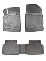 Коврики в салон для Citroen C5 / DS5 '08- полиуретановые, черные (L.Locker)