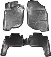 Коврики в салон для Mitsubishi Pajero Sport '08-16 полиуретановые, черные (L.Locker)