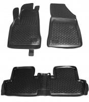 Коврики в салон для Peugeot 3008 '09-16 полиуретановые, черные (L.Locker)