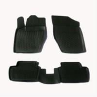 Коврики в салон для Peugeot 307 '01-07 полиуретановые, черные (L.Locker)